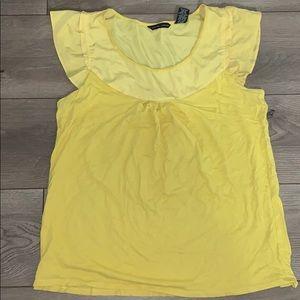 🌻 Yellow Short Sleeve Blouse